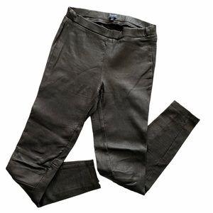Madewell B2076 Black Leather Ankle Zip Leggings 0